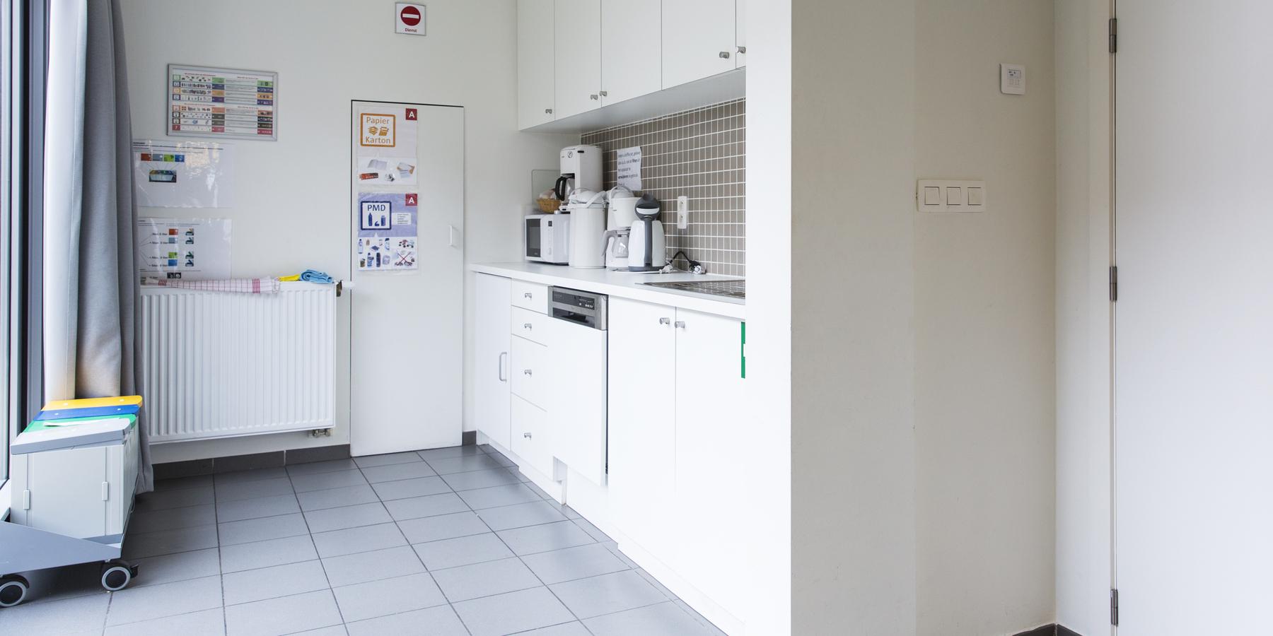 De keuken van Gemeenschapscentrum Den Tir.