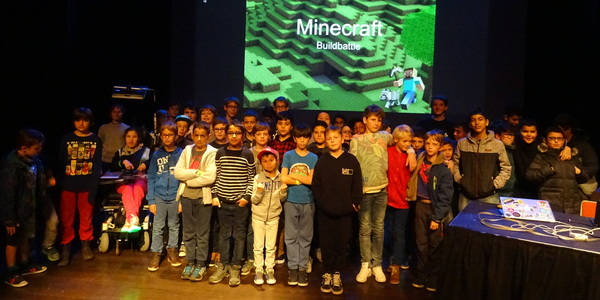 Deelnemers van de Minecraft Build Battle 2019