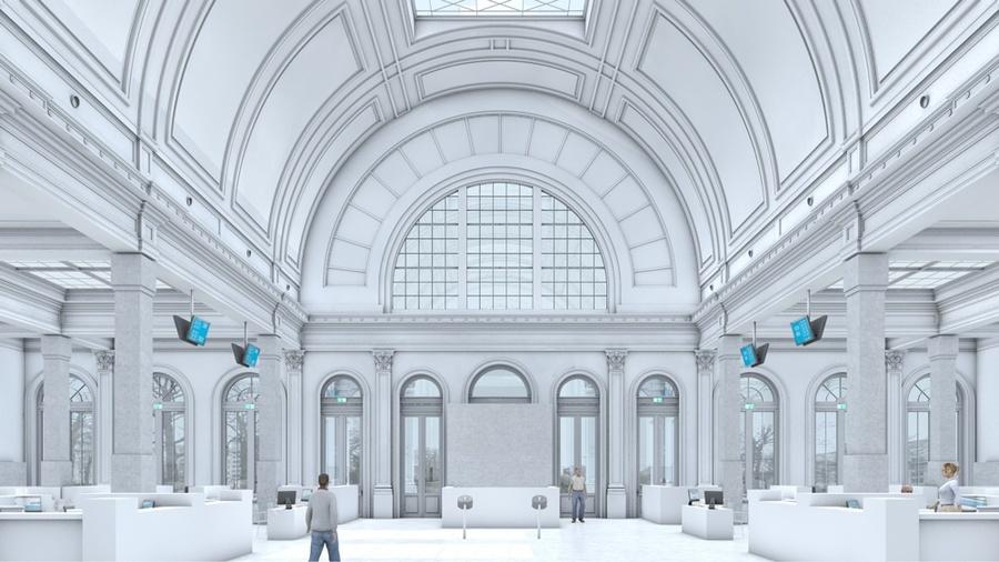 Simulatiebeeld Grote zaal