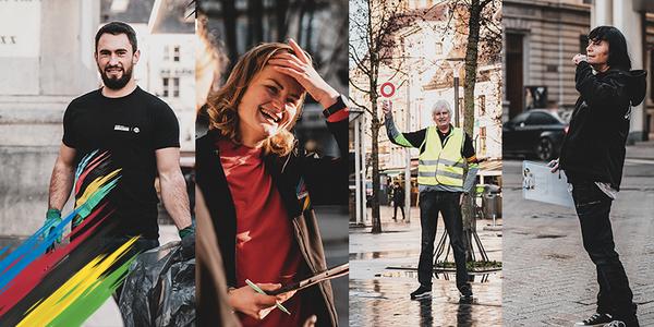 Foto's van de verschillende vrijwilligersfuncties die worden gezocht voor het WK wielrennen