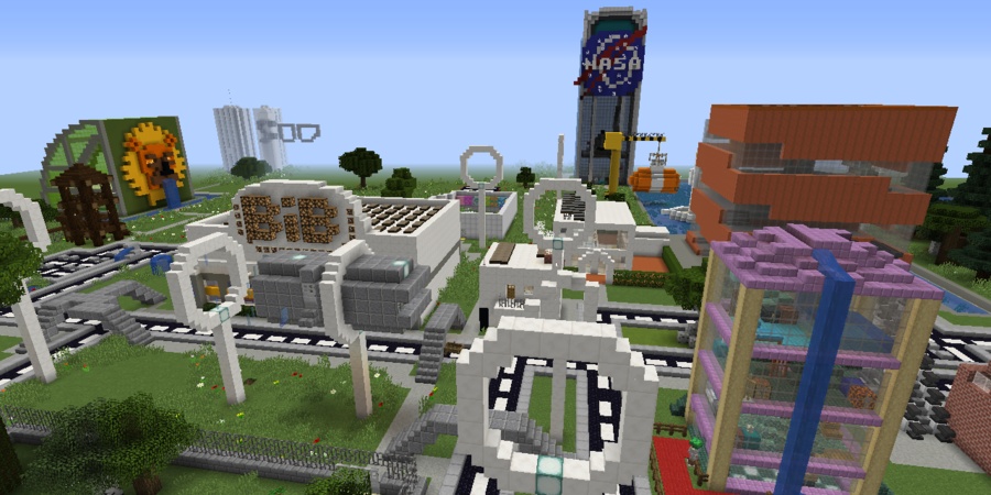 Minecraft Smart City van team Bibliotheek Driehoek (Ekeren)