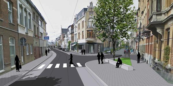 Het ontwerp voor de nieuwe Guldenvliesstraat