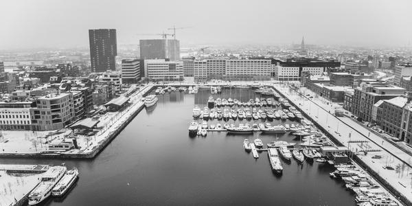Antwerpen in de sneeuw