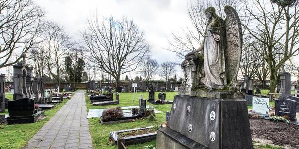 Graven op een begraafplaats
