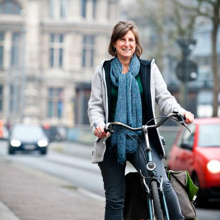 Gerd Morren op fiets