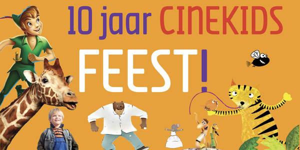Het affichebeeld van Cinekids met daarop figuren uit de geprogrammeerde films