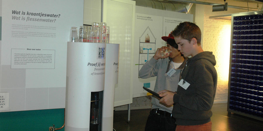 Tentoonstelling EcoHuis: water proeven