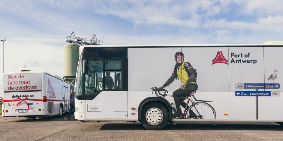 Fietsbus van Port of Antwerp