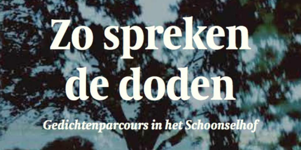 Gedichten Op Schoonselhof Zo Spreken De Doden Welkom