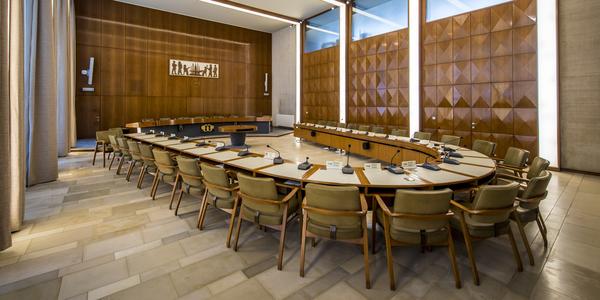 raadzaal van het districtshuis in Merksem