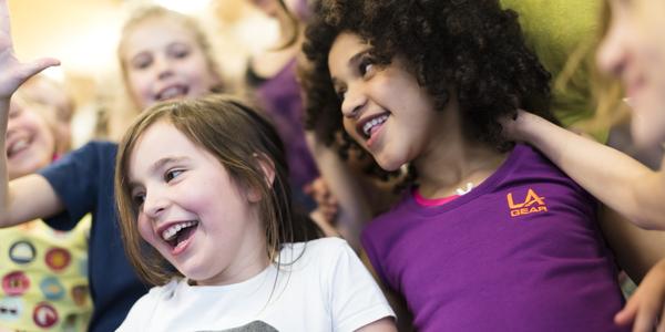 Lachende kinderen
