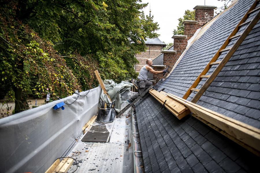dakwerken poortgebouw districtshuis Ekeren