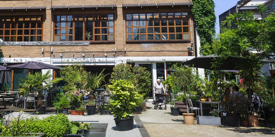 Het terras van het EcoCafé