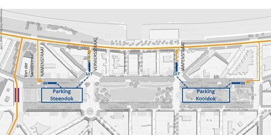 Bereikbaarheid van de parkings via de aanpalende straten
