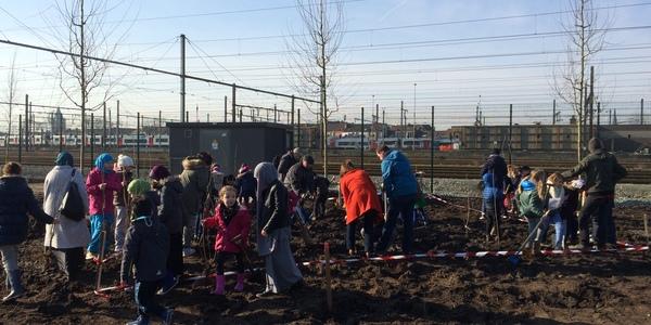 Boomplantactie Spoor Oost op 27 februari 2016