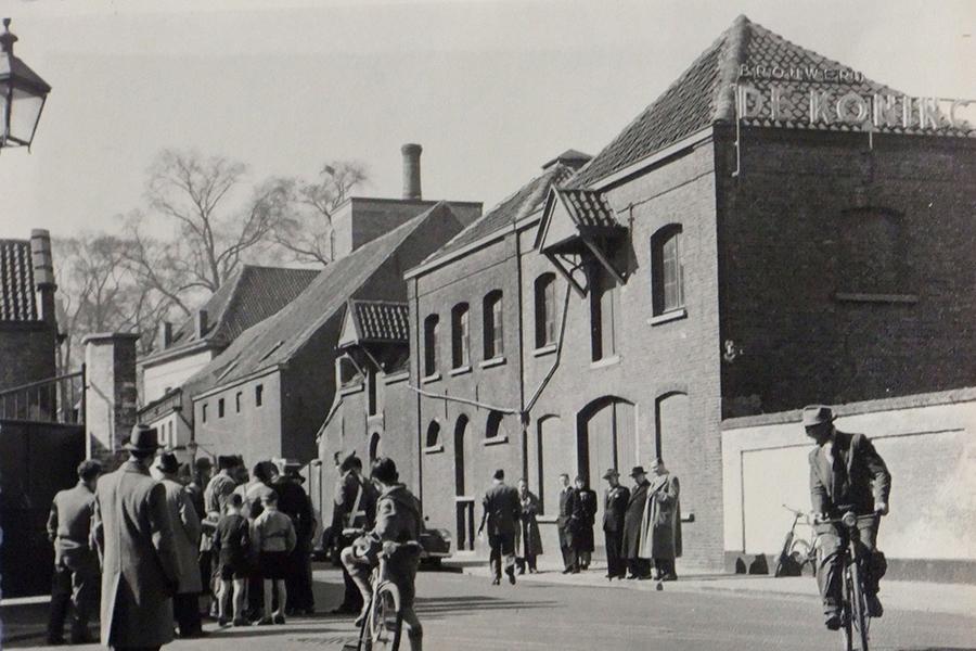Zijgevel Boomgaardstraat anno 1953.