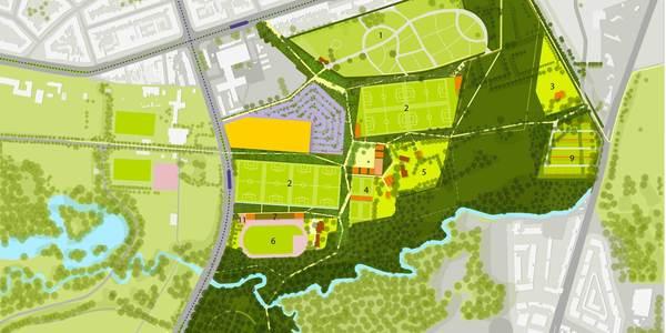 Masterplan voor het Park Groot Schijn