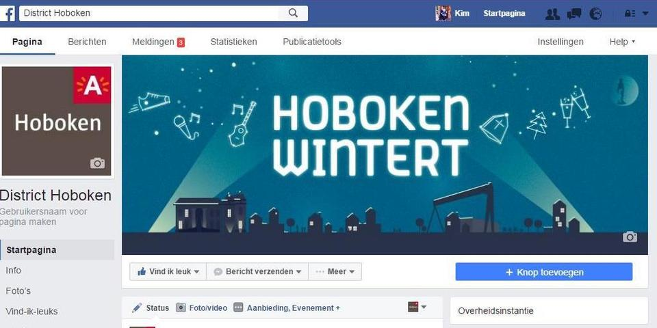 Facebookpagina district Hoboken