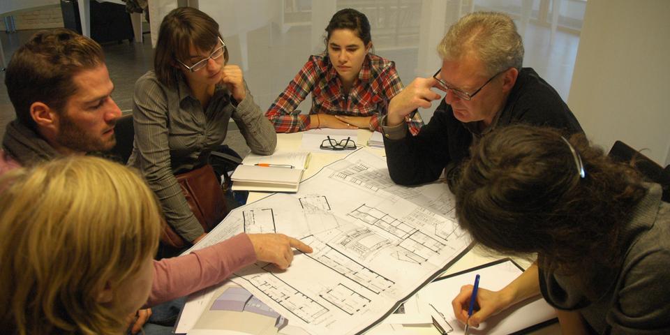 Een vergaderzaal in het EcoHuis