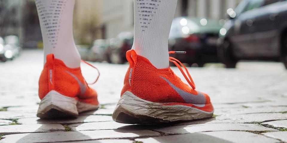 Loopschoenen op straat