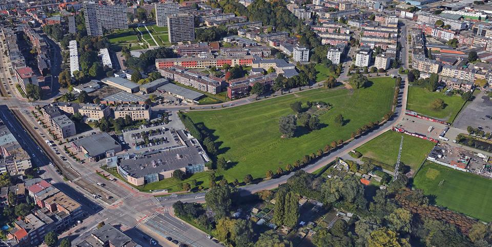 luchtfoto van het plangebied