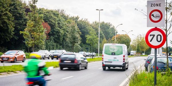 Lage emissiezone-bord aan de Singel