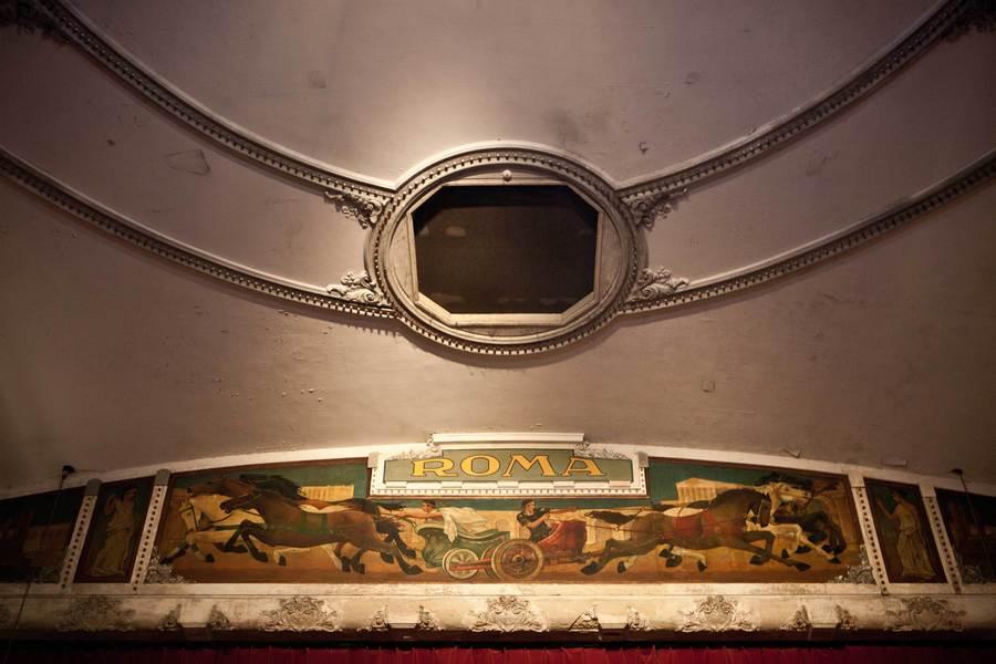 Detail van het plafond.