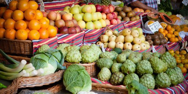 groenten en fruit op de markt
