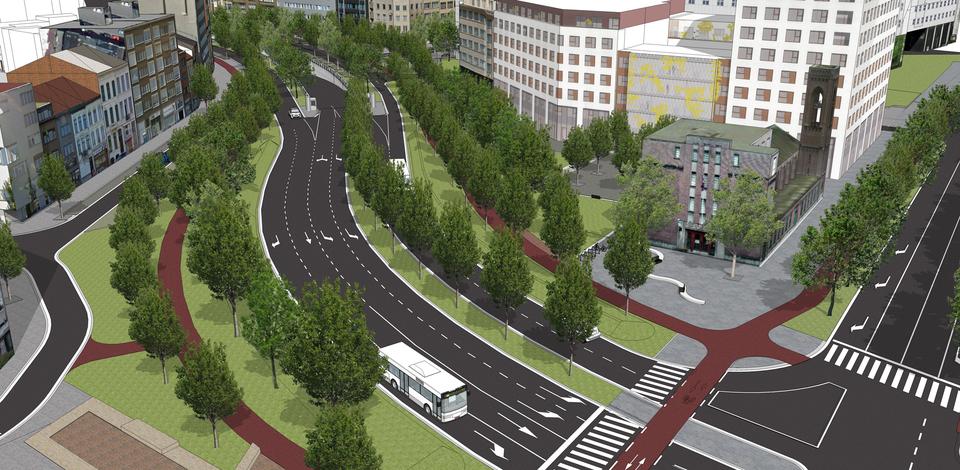 Simulatie van de toekomstige Tunnelplaats