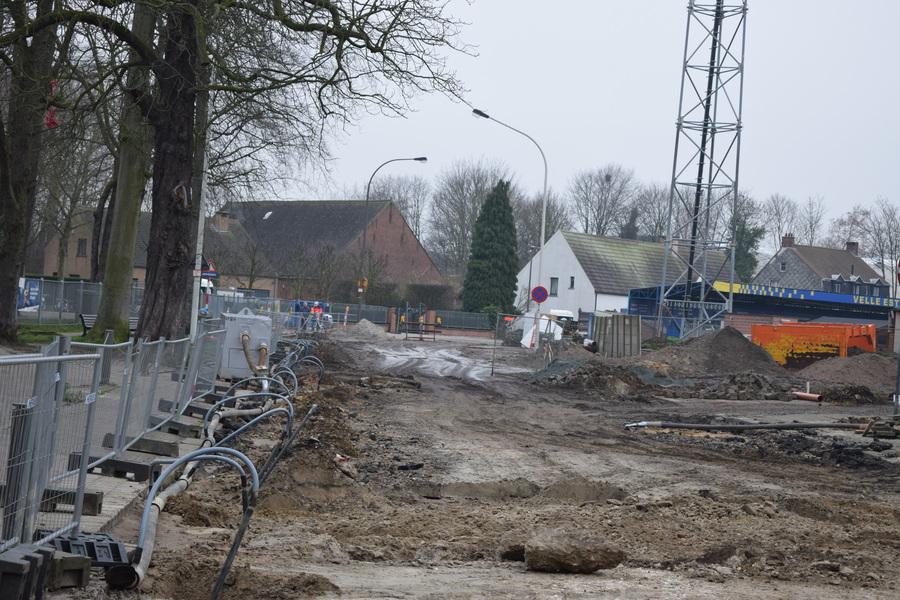 Fase 2 - rijbaan Terlindenhofstraat thv de parking