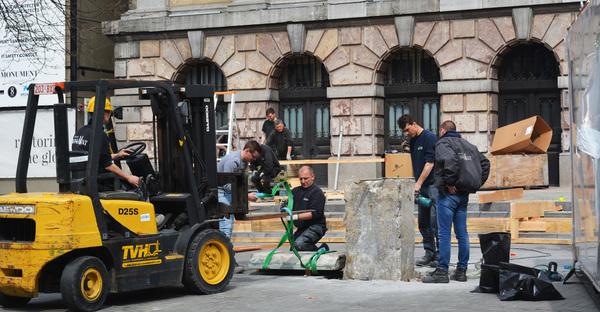 start werken stadhuis Antwerpen