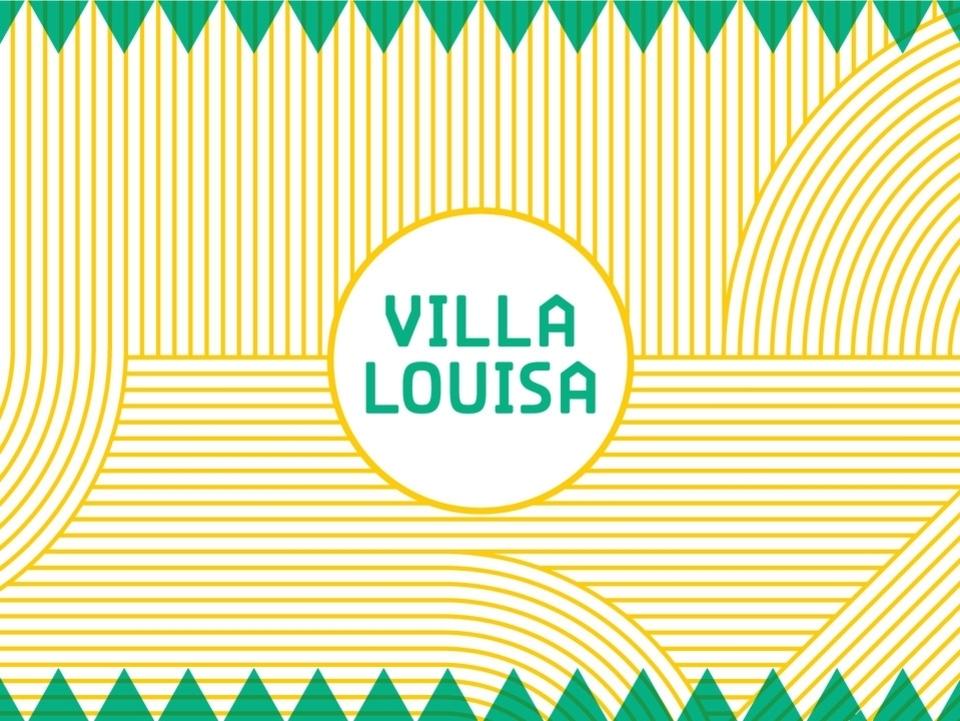 Grafische kaart met lijnen en Villa Louisa op