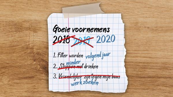 Grappig goede voornemenslijstje voor 2020