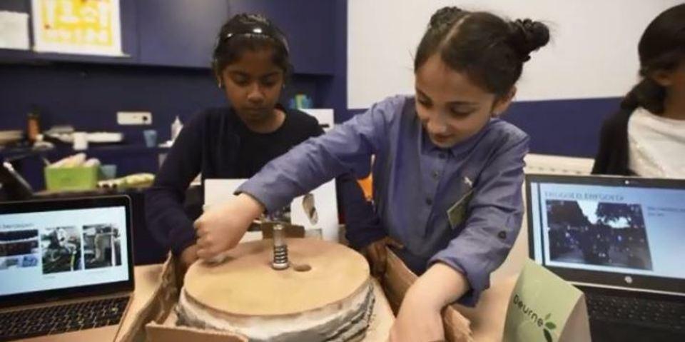 School Andromeda aan de slag tijdens 'Buurten met Erfgoed'