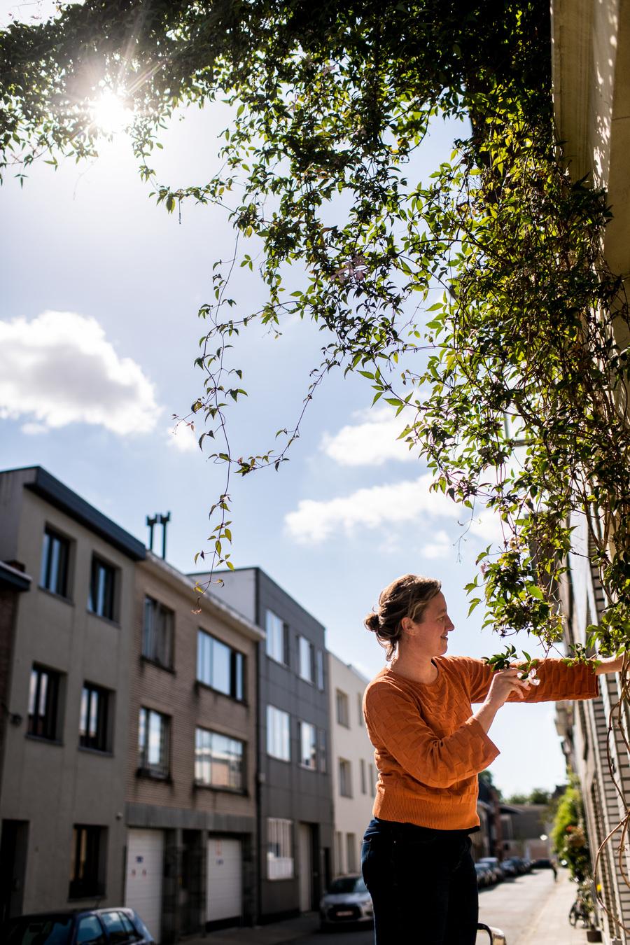 Borgerhoutenaar Geertje en haar groenslinger