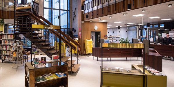 Vernieuwd gelijkvloers bibliotheek Driehoek