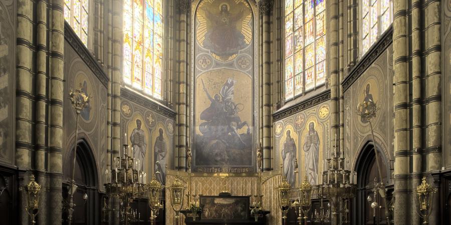 Sint-Joriskerk: interieur, foto Oswald Pauwels