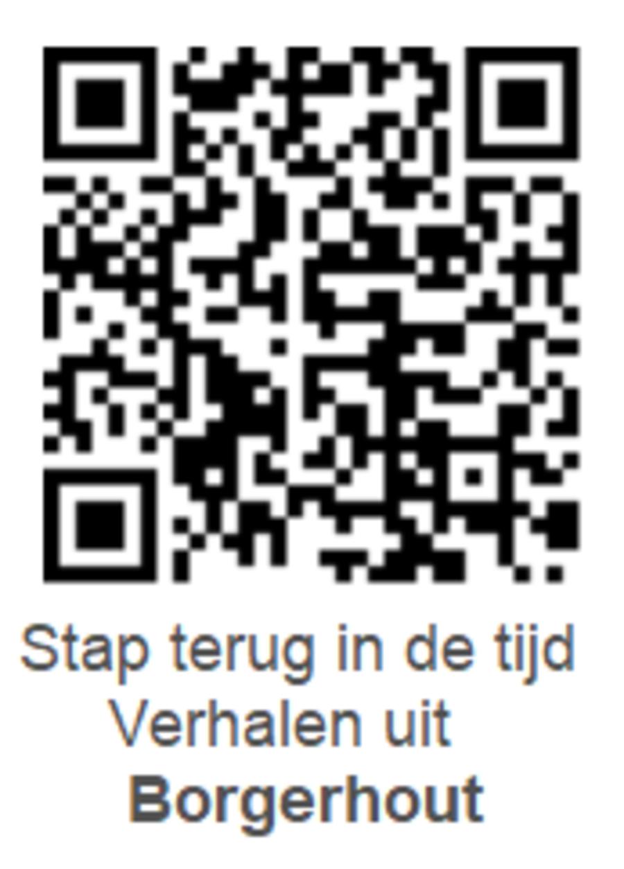 QR-code voor de audiowandeling in Borgerhout.