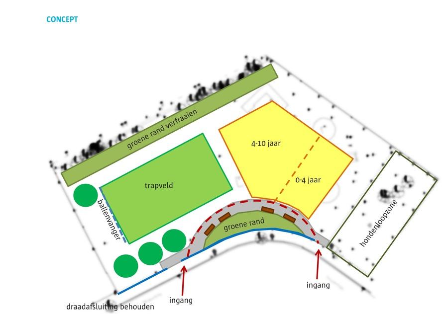 Concept speel-en sportterrein Wijngaardberg