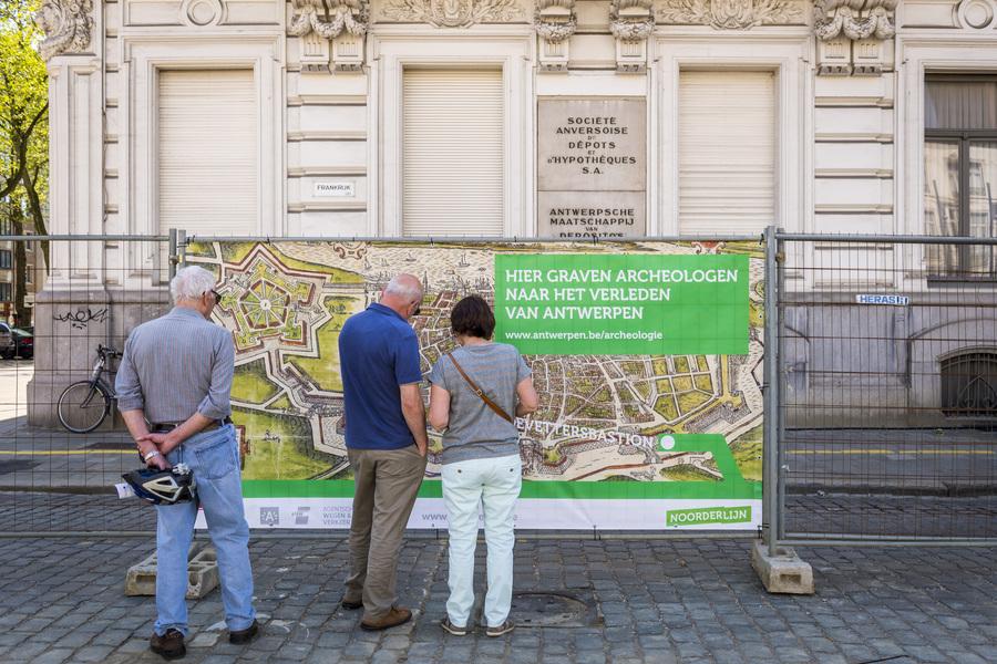 Huidevettersbastion van de Spaanse omwalling - mei 2016