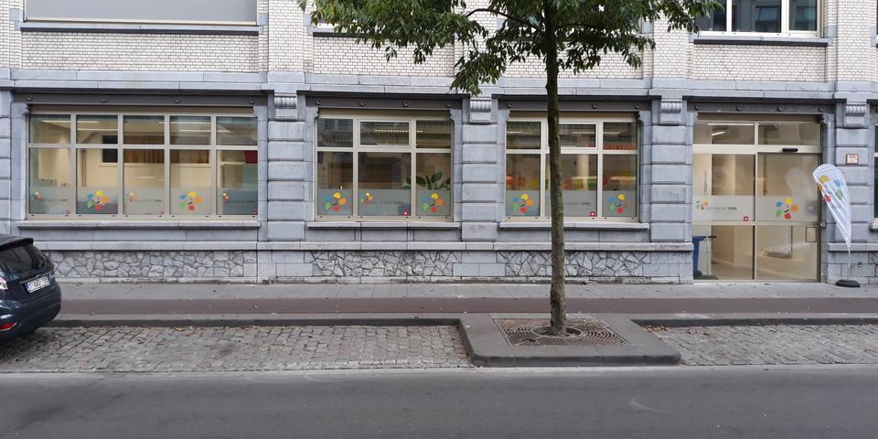 De voorgevel van het Huis van het Kind Antwerpen-Zuid.