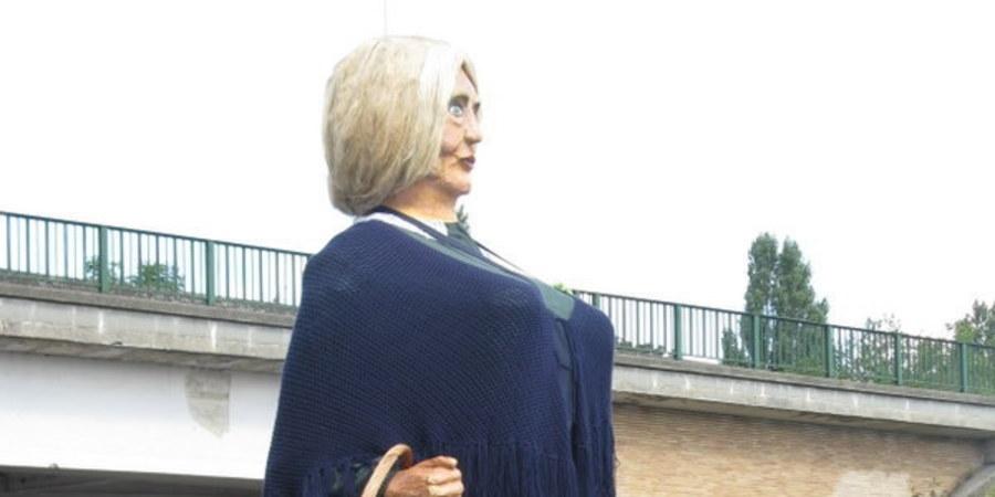 De reus Anneke Mossel, foto Sofie De Ruysser