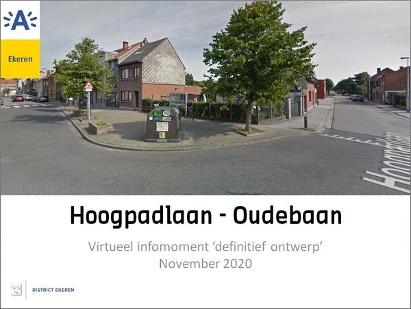 Beeld van kruispunt Hoogpadlaan en Oudebaan