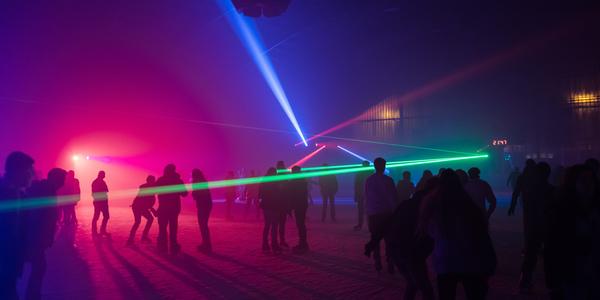Schaatsen met een lasershow