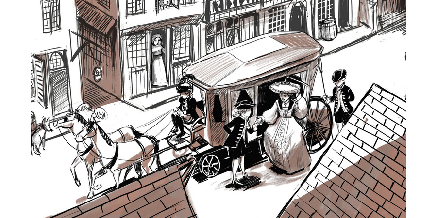 Beeld uit de graphic novel over Gilbert van Schoonbeke