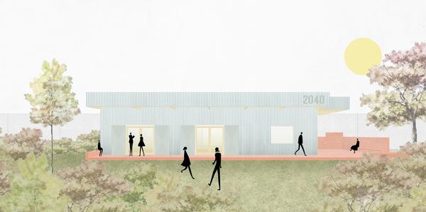 simulatiebeeld van nieuw jeugdhuis in Zandvliet