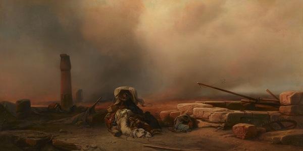Jacob Jacobs, 'Woestijnstorm', 1859