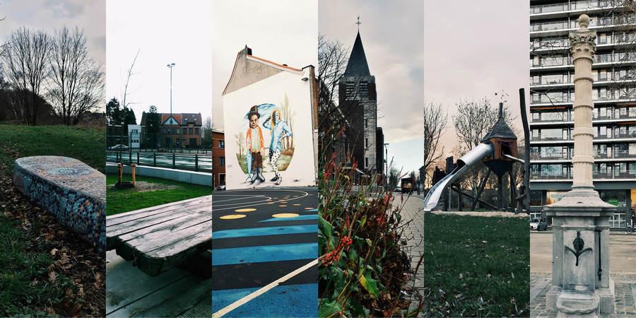 Beelden uit de zes Wilrijkse wijken: Oosterveld/Elsdonk, Koornbloem, Hoogte, Valaar, Neerland en Centrum
