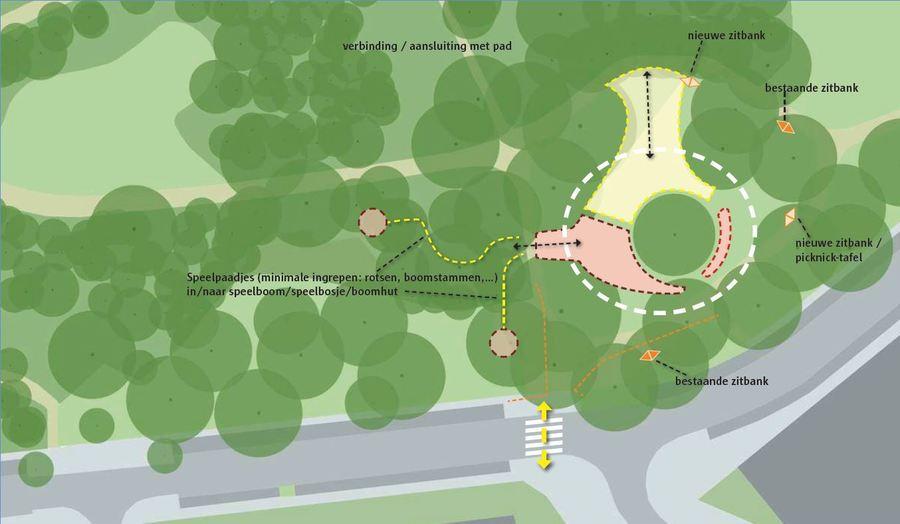 Het concept voor het nieuwe speelterrein in het Leeuwerikpark