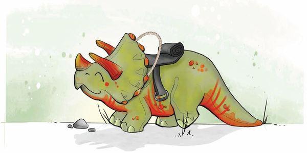 Dino Diko: één van de nieuwe speeltoestellen in park Het Prieel